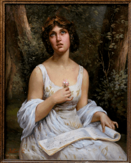 Copy after Léon-Jean-Bazille Perrault's Inspiration, by Victor C.